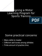 Designing a Motor Learning Program for Sports Training