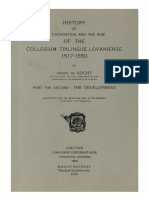 Humanistica Lovaniensia Vol. 11, 1953_HISTORY OF THE FOUNDATION AND THE RISE OF THE COLLEGIUM TRILINGUE LOVANIENSE 1517-1550_PART THE SECOND_THE DEVELOPMENT.pdf