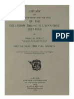 Humanistica Lovaniensia Vol. 12, 1954_HISTORY OF THE FOUNDATION AND THE RISE OF THE COLLEGIUM TRILINGUE LOVANIENSE 1517-1550_PART THE THIRD_THE FULL GROWTH.pdf