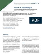 Diagnóstico y Tratamiento de La Nefritis Lúpica- Revista Nefrología