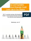 CEC1 School Diversity Workshops Report