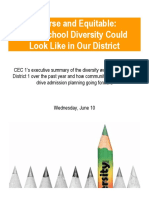 CEC1 School Diversity Workshops Report