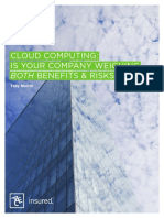 Privacy Network Security Cloud Computing is Your Company Weighing Both Benefits Risks