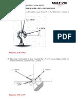 Mecânica Geral - Lista de Exercícios Com Respostas