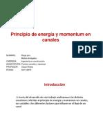 Pincipio de Energía y Momentum