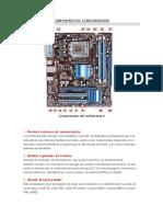 Componentes de La Motherboard