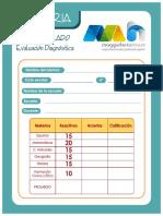 Evaluacion Diagnostica Sexto Grado