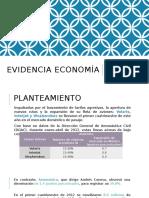 Evidencia economía