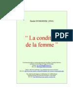 Durkheim Condition Femme