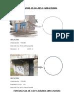 Fotografias en Colapso Estructural