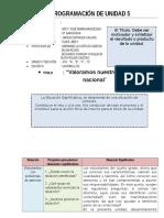 PROGRAMACIÓN DE UNIDAD 5 - 4° GRADO..docx