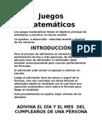 2-  Juegos Matemáticos
