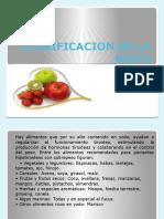 Clasificacion de La Dieta