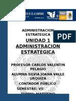 Unidad 1 Administracion Estrategica