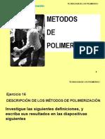Tec Pol 1 Métodos de Polimerizacion