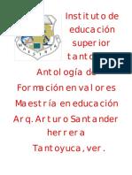ANTOLOGIA DE FORMACION EN VALORES.doc