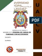 Informe Perdida de Carga en Tuberias