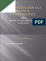 Introducción a La Ciencia Política.