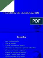 Filosofía Educación