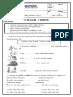 Prova 8ºAno B -Inglês P2