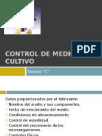 Control de Medios de Cultivo
