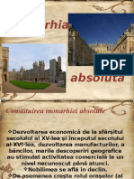 MONARHIA-ABSOLUTA ( proiect cls 9 )