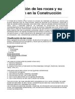 Aplicacion de Las Rocas en La Construccion
