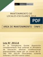 Mantenmiento de Locales Escolares 2014