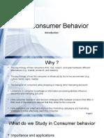 Consumer Behavior _ Intro