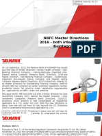 NBFC Master Directions 2016 Both Integration and Disintegration