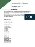Speaking Class Basic 1