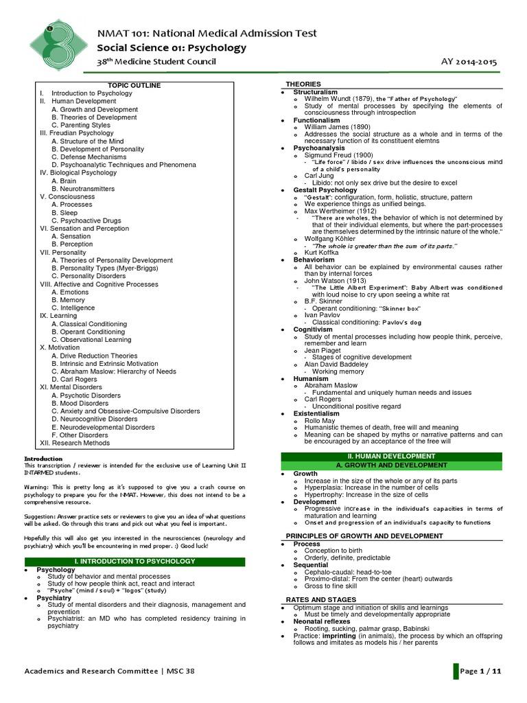 313905192-NMAT-101-01-Psychology-1-pdf pdf | Id | Classical