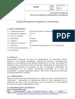 Silabo Derecho Comercial i 2016 - II