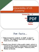 Sustainability of Us Economy
