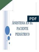 Anestesia en El Paciente Pediátrico