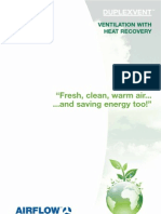 Airflow Duplex Vent Green Brochure - Ventilation with Heat Recovery