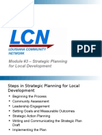 LCN Module 3 Local Strategic Planning