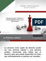 Personalidad Jurídica y Velo Societario PERÚ