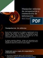 Manipular Utilerías de Recuperación y Restauración de Información