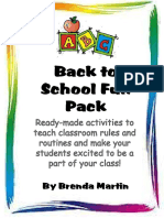 Back to School Fun Pack Activities for the First Week of School