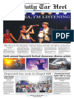 The Daily Tar Heel for Sept. 12, 2016