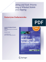 Switched Modeling and Task–Priority Motion Planning of Wheeled Mobile Robots Subject to Slipping