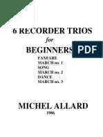 6 Recorder Trios