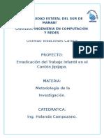 PROYECTO DE LA ERRADICACION DEL TRABAJO INFANTIL.docx
