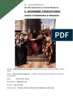 La pala di S. Giovanni Crisostomo