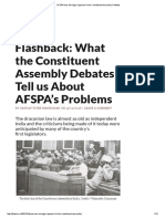 AFSPA Was Strongly Opposed in the Constituent Assembly Debates