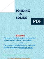Bonds in Solids