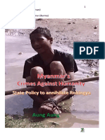 Myanmar's Crimes Against Humanity