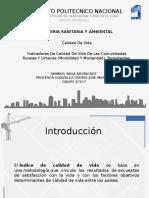 Indicadores de Calidad de Vida de Las Comunidades Rurales y Ubanas (Morbilidad y Mortandad), Persistentes.