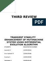 Transient Stability Improvement Differential Evolution